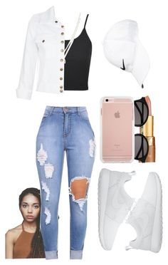 """Random :D"" by marvelfaith ❤ liked on Polyvore featuring Topshop, LC Lauren Conrad, tarte, Yves Saint Laurent, NIKE and Current/Elliott"