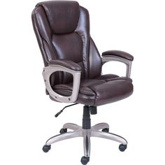 high back executive leather office chair lumbar support http