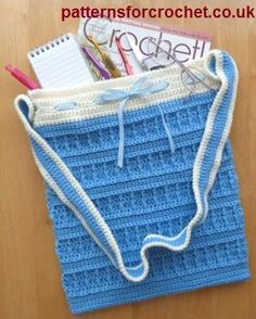 Free crochet pattern for tote bag from http://patternsforcrochet.co.uk/tote-bag-usa.html #patternsforcrochet