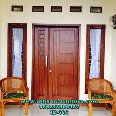 64 Ideas main door design entrance with window Double Door Design, Main Door Design, Wooden Door Design, Front Door Design, House Entrance, Entrance Doors, Entrance Ideas, Diy Door Knobs, Small Barn Door Hardware
