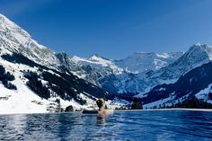 The Cambrian Hotel Adelboden negative edge zero edge infinity pool disappearing edge vanishing edge pool