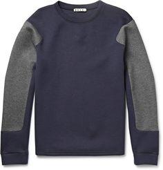 Marni Two-Tone Cotton-Blend Jersey Sweatshirt