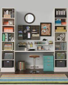 organized office wall