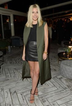 Killer style: Mollie King, 28, flaunted her sartorial prowess as she attended a number of fashion events - including the official LFW party and the Coach launch in Selfridges - in the British capital on Friday evening