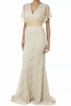 Etxart & Panno Long Lace Dress