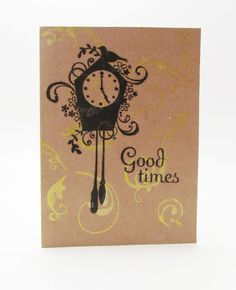 Good Times Coo Coo Clock Blank Note Cards  Set of by SunnyVines, $6.50