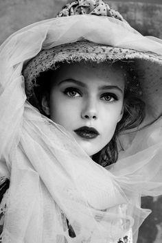 beautiful, black and white, blond, blonde, cute