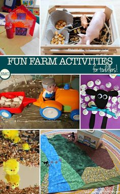 My boy LOVES all things farm and he will have so much fun with these farm activities!