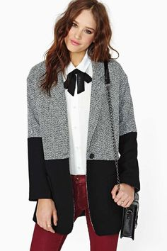 Cute jacket, not the tie though.