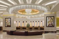 Makkah Hilton Hotel amazing lobby.