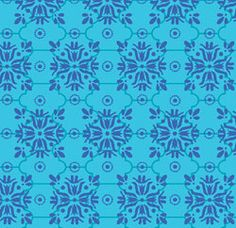 Quilting Treas Mediterrenean Dream Mini Tile Turq