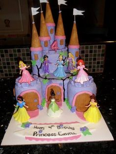 Emma's 4th princess birthday cake