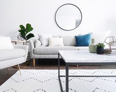 A beautiful, cozy, and effortless space that makes you want to sit on the couch and never leave