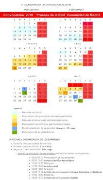 Pruebas Libres ESO 2019 – Información y Orientación Pinto Periodic Table, Madrid, Baccalaureate, Periotic Table