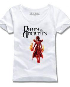 Lina Inverse mulheres impressos camisetas Dota tema herói 2-
