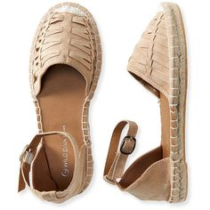 Aeropostale Basket Weave Espadrille ($25) ❤ liked on Polyvore featuring shoes, sandals, natural, espadrille sandals, espadrilles shoes, traction shoes, sporting shoes and rubber sole shoes