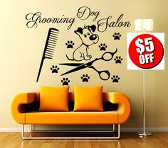 Grooming Salon Wall Decals Decal Vinyl Sticker Dog by CozyDecal