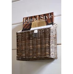 Rustic Rattan Wall Basket Closed Weave - Coming Soon | Rivièra Maison