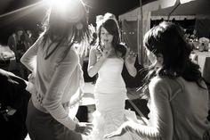 Blush vera wang dress beach outdoor wedding dance floor