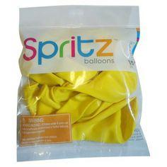 $1.54 Spritz Yellow Balloons 15-ct.