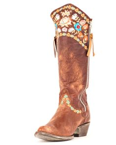 Multi-Colored Statement boots! http://www.countryoutfitter.com/products/31430-womens-gaylarazz-boot-brass-multi #Ridingboots