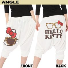 Hello Kitty sweat pants. Comes in 3 different colors at Rakuten Global Market