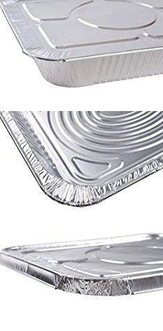 A World of Deals 9 X 13 Half Size Deep Foil Steam Pans with Lids 30 Pack