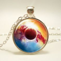 Galaxy Necklace, Nebula Jewelry, Stars And Universe Hipster Space Pendant (1402S1IN)