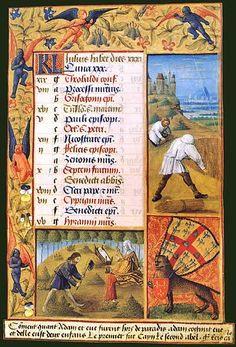 July in the Book of Hours of Louis de Laval (BNF Latin 920, fol. 11), c. 1475