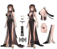 Liduke(日 子) on in 2019 服 裝 anime art, character design, fema Female Character Design, Character Modeling, Character Design Inspiration, Character Art, Character Types, Persona Design, Manga Japan, Look Girl, Girls Frontline