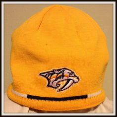 NASHVILLE PREDATOR ADULT REEBOK REVERSIBLE CENTER ICE STOCKING CAP FREE SHIPPING #Reebok #NashvillePredators