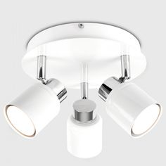 This Benton 3 Way Ceiling Spotlight is Good For Bathroom, Kitchens, Hallway, and Landing. Requires 3 x 50 watt Bulbs or LED Equivalent. Kitchen Ceiling Lights, Ceiling Spotlights, Ceiling Light Fixtures, Led Ceiling, Tall Floor Lamps, Tall Lamps, Battery Operated Christmas Lights, Lantern With Fairy Lights, Arco Floor Lamp