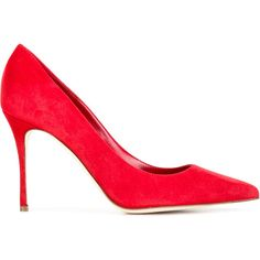 Sergio Rossi pointed toe pumps (25,145 PHP) ❤ liked on Polyvore featuring shoes, pumps, red, red pointy toe pumps, pointy-toe pumps, sergio rossi pumps, sergio rossi shoes and leather shoes