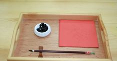 """With Chinese New Year coming, I added this new activity on the Art shelf. The Chinese symbol """"FU"""" means HAPPINESS! Just a collage . Montessori Trays, Montessori Activities, Diy Light Table, Chinese Symbols, Crafts For Kids, Preschool, Projects To Try, Shelf, Collage"""