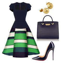A fashion look from April 2016 featuring Roland Mouret blouses, Lanvin skirts и Christian Louboutin pumps. Browse and shop related looks. Work Fashion, Modest Fashion, Fashion Dresses, Fashion Looks, Classy Outfits, Chic Outfits, Glamour Moda, Looks Chic, Work Attire
