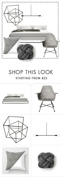 """""""minimal concrete"""" by julie-rawding ❤ liked on Polyvore featuring interior, interiors, interior design, home, home decor, interior decorating, Lyon Béton, Andrew Neyer, Design House Stockholm and bedroom"""