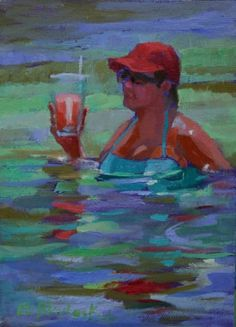 DOUBLE CHILLING AT THE BEACH -- Elizabeth Blaylock