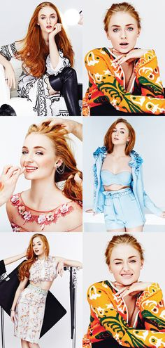 Sophie Turner for Glamour Mexico, 2015