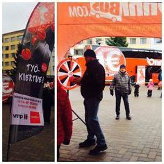 #Työkiertue 26.10.Jyväskylässä Aren aukiolla! @happeefloorball pelaajat mukana tapahtumassa klo 14-17