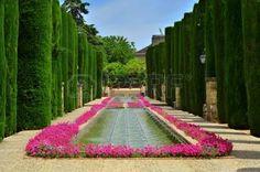 Patio de los Reyes, dans les jardins de l'Alcazar de los Reyes Cristianos � Cordoue, Espagne photo