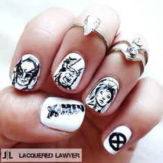 Lacquered Lawyer | Nail Art Blog: X-Men