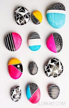 Pintar y decorar piedras a mano. Consejos básicos e ideas rebonitas – Manualidades