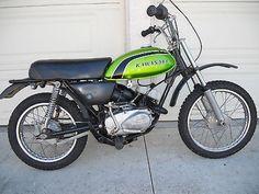 Old Bikes, Dirt Bikes, Vintage Bikes, Vintage Motorcycles, Japanese Motorcycle, Kawasaki Motorcycles, Bike Rider, The Old Days, Mini Bike