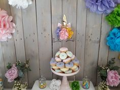 #unicorn#party#partyideas#christening#paperflowers