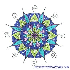 One of my favourites from my 100 Days of Mandalas project on Instagram @HeartMindHappiness
