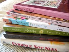 """Character-Building Book Resources For Raising Girls:book ideas, careful selected, inspiring, great!  """"Many of you have asked for a list of books with which you can guide the heart of a child toward purity. We want them to grow to be highly capable of living in the world, but not be a part of it."""""""