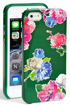 kate+spade+new+york+'spring+blooms'+iPhone+5+&+5s+case+available+at+#Nordstrom
