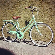 Bobbin Mint Green Birdie Bicycle-must have accompaniments: Wicker Basket, Wooden box, Bouquet of peonies, & vintage dress