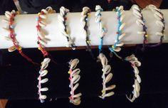 Bracelet femme/homme-tresse-coquillages-Bali-cordon réglable-grain de café