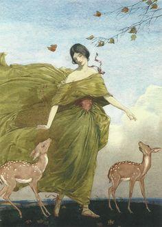 """oldpaintings: """"Autumn par Stanislaus Soutten Longley (anglais, 1894-1966)"""""""
